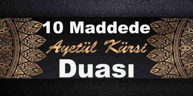 10 maddede ayetel kürsi