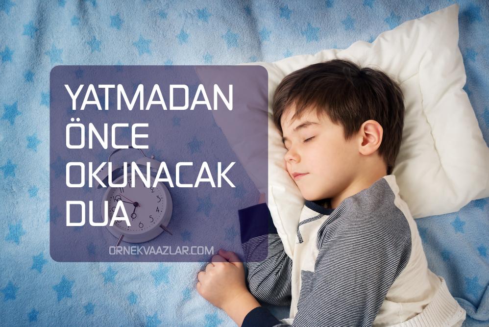 dualar yatmadan önce okunacak dua