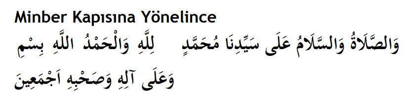 minbere yönelince okunacak dua