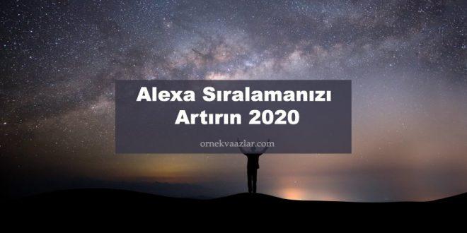 Alexa Sıralamanızı Artırın 2020